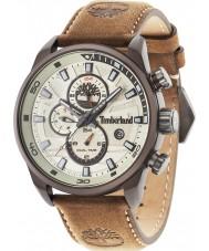 Timberland 14816JLBN-07 Mens Henniker ii reloj de la correa de cuero de color marrón oscuro