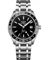 Rotary GB90172-04 Mens relojes legado de acero de plata reloj pulsera
