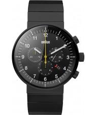 Braun BN0095BKBKBTG Para hombre de prestigio reloj cronógrafo negro