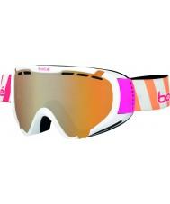 Bolle 21349 Explorador de brillantes rayas blancas - gafas de esquí de armas de cítricos