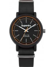 Superdry SYG197B Mens campus de reloj correa de silicona negro de la OTAN