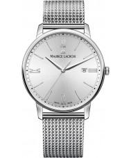 Maurice Lacroix EL1118-SS002-110-1 Mens Eliros reloj de plata brazalete de acero