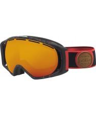 Bolle 21458 gafas de esquí de naranja fuego - negro y rojo de la salpicadura de gravedad