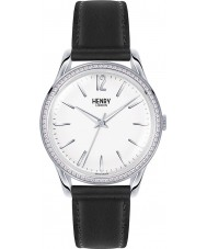 Henry London HL39-SS-0019 Damas Edgware reloj negro blanco con los elementos