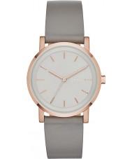 DKNY NY2341 Damas soho reloj de la correa de cuero gris