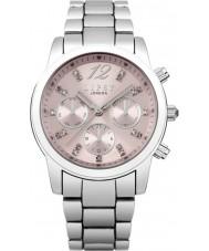 Lipsy LP390 Las señoras de piedra situada reloj del tono de plata de línea múltiple