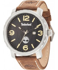 Timberland 14399XS-02 Para hombre de Pinkerton reloj de la correa de cuero de color marrón oscuro