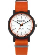 Superdry SYG197O campus de la OTAN para hombre de color naranja reloj correa de silicona