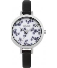 Oasis B1579 reloj de pulsera de caucho negro damas