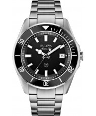 Bulova 98B203 estrella marina para hombre reloj de pulsera de acero de plata