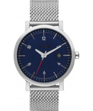 Nixon A1087-307 Mens rollo reloj de pulsera de acero de plata 38 ss