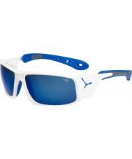 Cebe Hielo 8000 gafas de sol azules brillantes blancos