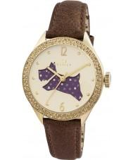Radley RY2210 Señoras del reloj de la correa de cuero marrón con piedras