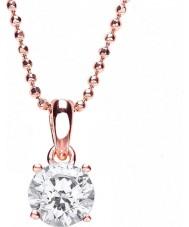 Purity 925 PUR3580P Damas chapado en oro rosa collar con cristales swarovski