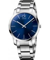 Calvin Klein K2G2114N ciudad para hombre de acero de plata reloj pulsera