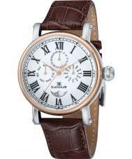 Thomas Earnshaw ES-8031-03 Maskelyne para hombre reloj de la correa de piel de cocodrilo marrón
