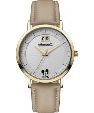 Disney by Ingersoll ID00503 reloj de la correa de cuero marrón de la PU de las señoras de la unión