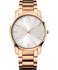 Calvin Klein K2G21646 ciudad para hombre reloj de pulsera de acero subió oro
