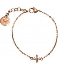 Edblad 31630068 Señoras de Windsor oro rosa pulsera plateada