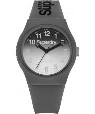 Superdry SYG198EE Damas láser urbana reloj correa de silicona gris