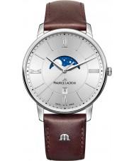 Maurice Lacroix EL1108-SS001-110-1 Mens Eliros reloj de la correa de cuero marrón