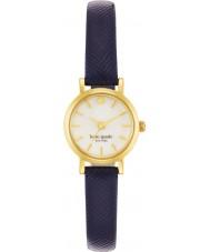Kate Spade New York 1YRU0456 Damas pequeño reloj de la correa de cuero azul marino de metro