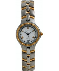 Krug-Baumen 2614KL Damas regata de reloj de oro de acero blanco
