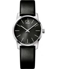 Calvin Klein K2G23107 reloj de la correa de cuero negro de las señoras de la ciudad