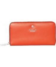 Modalu MS6321-ORANGE Las señoras de naranja Pippa monedero ziparound