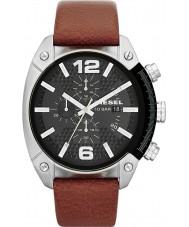 Diesel DZ4296 reloj de la correa de cuero marrón para hombre del cronógrafo de desbordamiento
