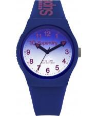 Superdry SYG198UU Damas láser urbana reloj correa de silicona azul