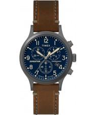 Timex TW4B09000 reloj de la correa de cuero marrón para hombre de expedición