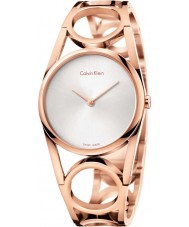 Calvin Klein K5U2M646 Señoras de oro rosa reloj plateado