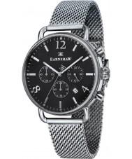 Thomas Earnshaw ES-8001-11 Mens investigador de acero de plata reloj cronógrafo de malla