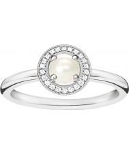 Thomas Sabo Anillo de diamantes de plata y glamour de las señoras