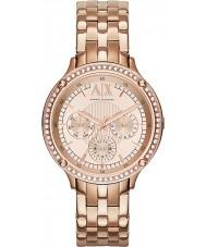 Armani Exchange AX5406 Damas se levantaron Reloj Pulsera chapada en oro