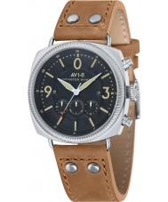 AVI-8 AV-4022-02 reloj cronógrafo de la correa de cuero beige para hombre del bombardero Lancaster