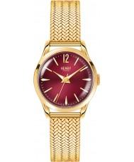 Henry London HL25-M-0058 Damas Holborn burdeos reloj de oro Hamilton