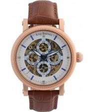 Krug-Baumen 60252DM Reloj para hombre de la correa de cuero marrón majestuoso