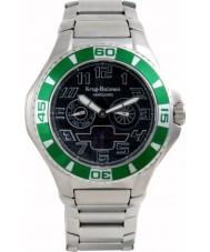 Krug-Baumen 140503KM negro reloj de acero verde Vanguard