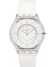 Swatch SFK360 Piel - reloj blanco classiness