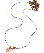 Edblad 116130174 Damas charmentity chapado en oro rosa de cadena larga
