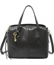 Fossil ZB6847001 maletín negro de las señoras Emma