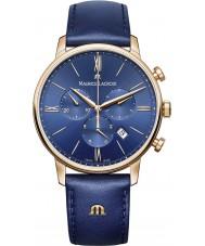 Maurice Lacroix EL1098-PVP01-411-1 Para hombre reloj cronógrafo Eliros correa de cuero azul