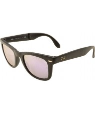 RayBan Rb4105 50 plegable caminante mate 601s4k negro lila refleja las gafas de sol