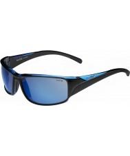 Bolle Keelback negro brillante azul polarizado gafas de sol azules marinos