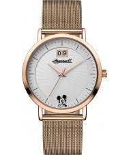 Disney by Ingersoll ID00504 Señoras de la unión chapado en oro rosa malla de reloj pulsera