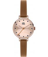 Orla Kiely OK2034 Señoras de la hiedra del reloj de la correa de cuero marrón