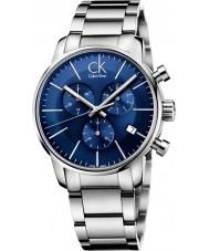 Calvin Klein K2G2714N ciudad para hombre de plata azul reloj cronógrafo