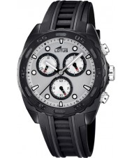 Lotus 18159-1 Para hombre reloj cronógrafo de caucho negro blanco